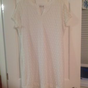 Isaac Mizrahi White Lace Stretch DRess